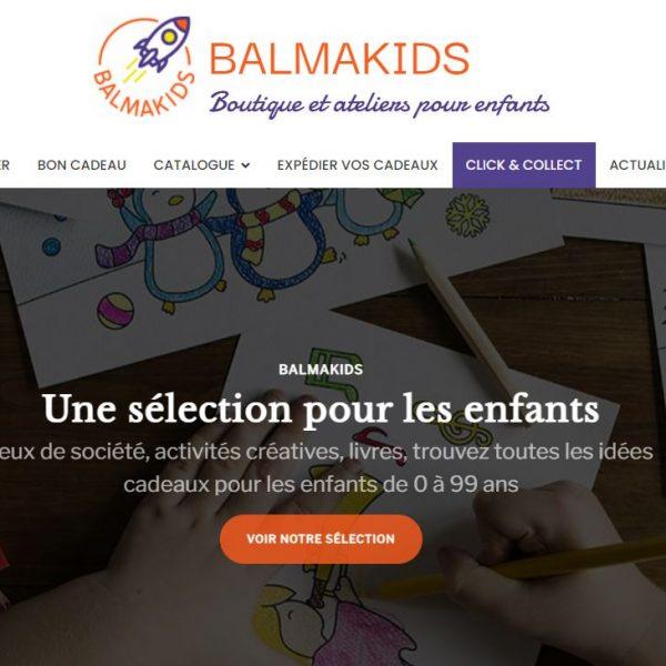 Site boutique en ligne atelier pour enfants