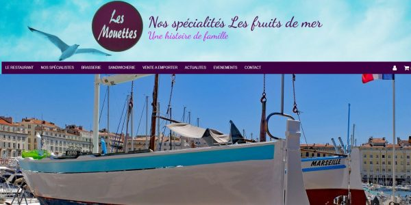 Site restaurant Les Mouettes à Marseille (13008)