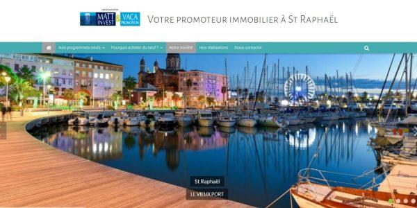 Bienvenue sur le site Matt invest & Vaca Promotion à st Raphael