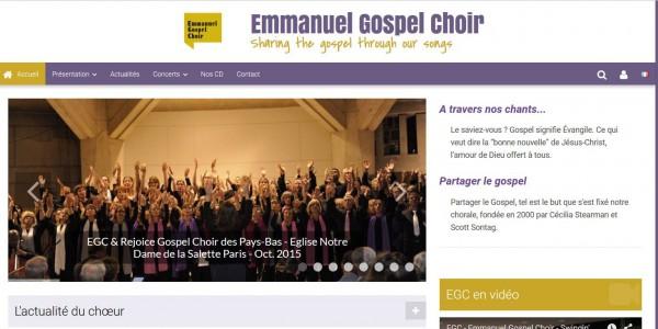 Site de chorale/chant/artiste