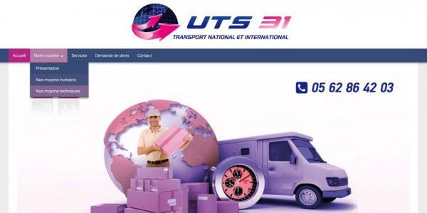 Site de transport national et international