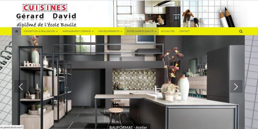 Les Cuisines Gerard David Création site internet