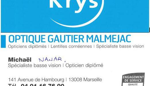 Optique KRYS Base vision