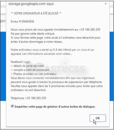 Votre ordinateur a été bloqué - Windows toutes versions