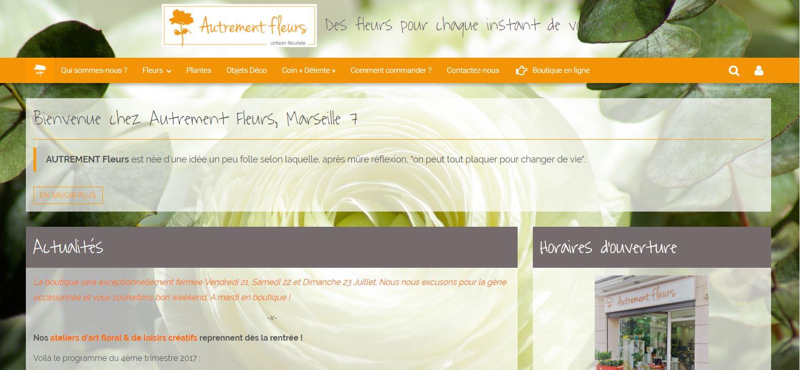 site r alis par c linform tique autrement fleurs marseille 13007 celinform tique. Black Bedroom Furniture Sets. Home Design Ideas