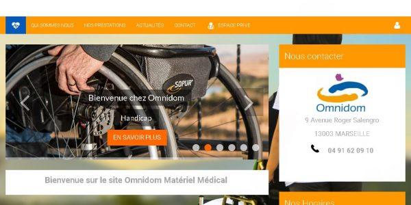 """Site réalisé par Célinform@tique – """"Omnidom – matériel médical/pompe à insuline """""""