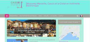 """Site réalisé par Célinform@tique """"Cassis trottine"""""""