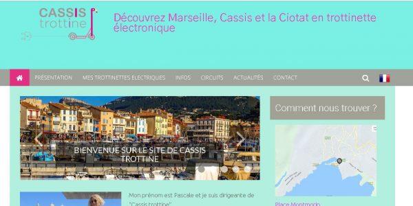 """Site réalisé par Célinform@tique """"Cassis Trottine """""""