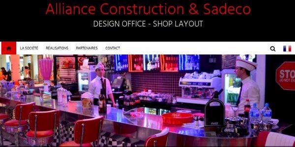 """Site réalisé par Célinform@tique """"Alliance Construction & Sadeco """""""