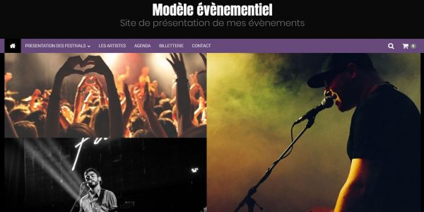 Site de présentation de mes événements