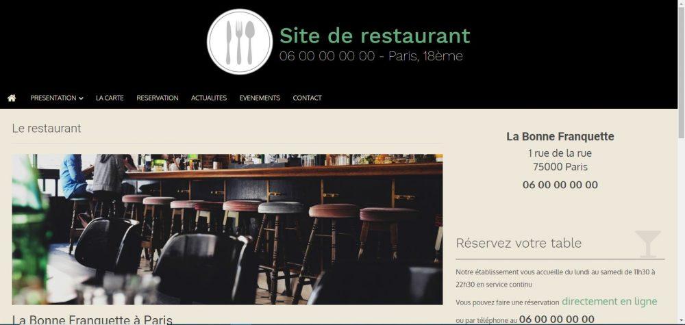site-de-restaurant