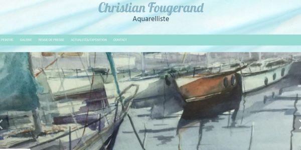 """Site réalisé par Célinform@tique """"Fougerand-aquarelliste"""""""